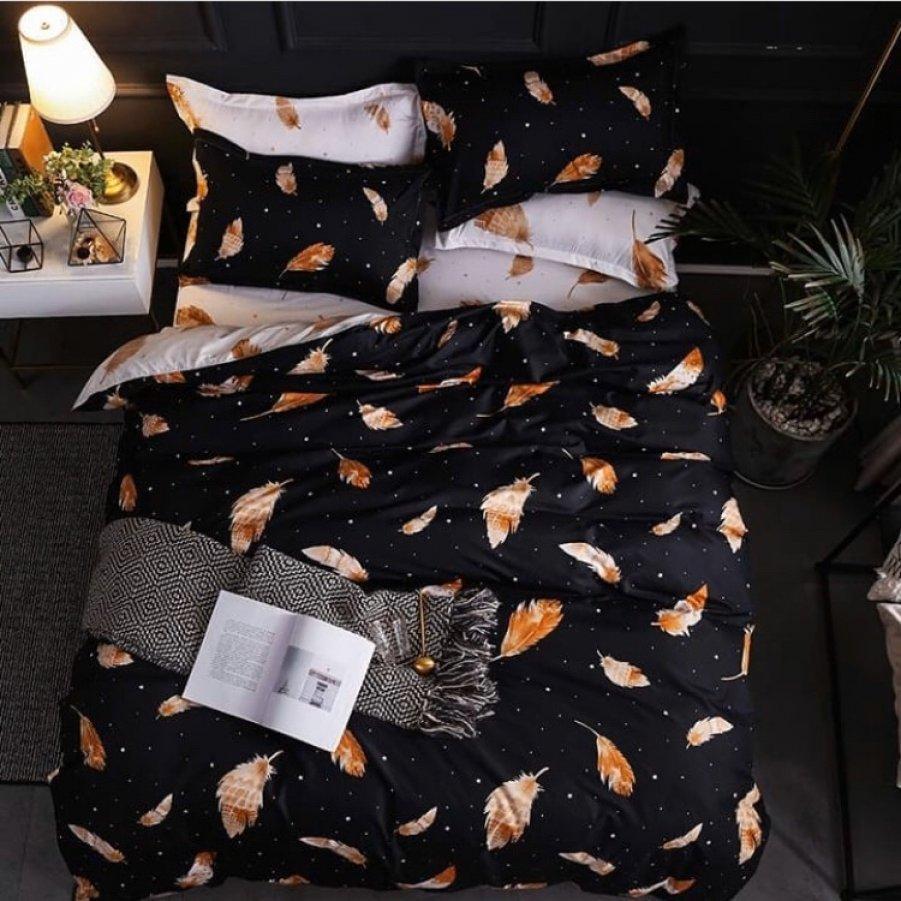 Двуспальное постельное белье Бязь Gold - Релакс перышки