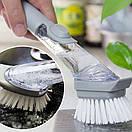 Щётка для мытья посуды с дозатором для жидкого мыла CLEANER BRUSH, фото 2