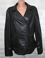 """Куртка-косуха жіноча кожзам полубатальная, відкладний, розміри 50-58 """"LANMAS"""" недорого від прямого постачальника"""