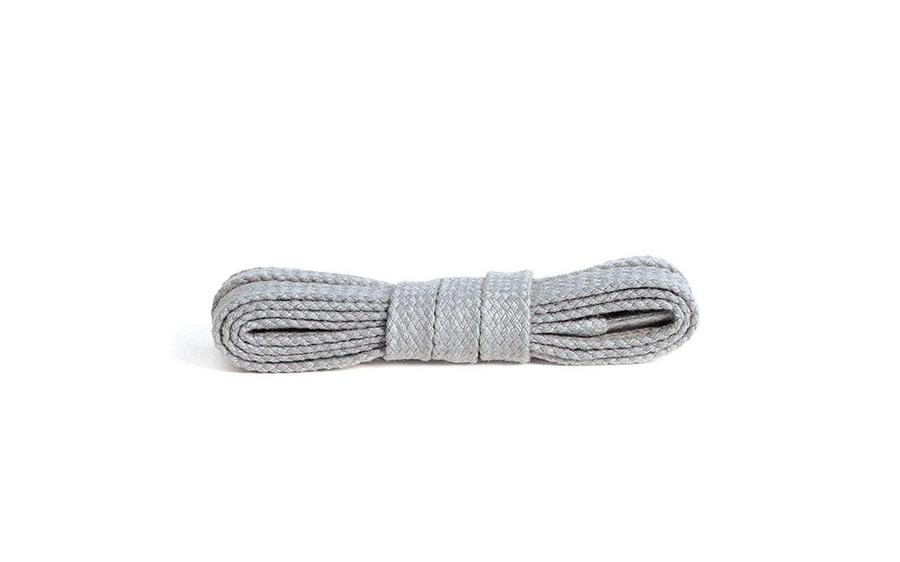 Шнурки Kaps плоские серые, 8мм\90 см