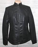 """Куртка жіноча кожзам полубатальная, стійка, розміри 50-58 """"LANMAS"""" недорого від прямого постачальника"""