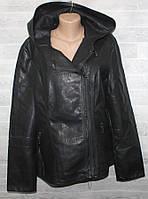 """Куртка-косуха жіноча кожзам батальна,комір-капюшон, розміри 56-64 """"LANMAS"""" недорого від прямого постачальника"""