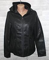 """Куртка жіноча кожзам полубатальная, комір-капюшон, розміри 50-58 """"LANMAS"""" недорого від прямого постачальника"""