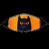 """Маска многоразовая защитная с рисунком """"Черный кот"""""""