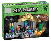 Конструктор Bela 10390 Minecraft Майнкрафт Підземеллі або Темниця 219 деталей