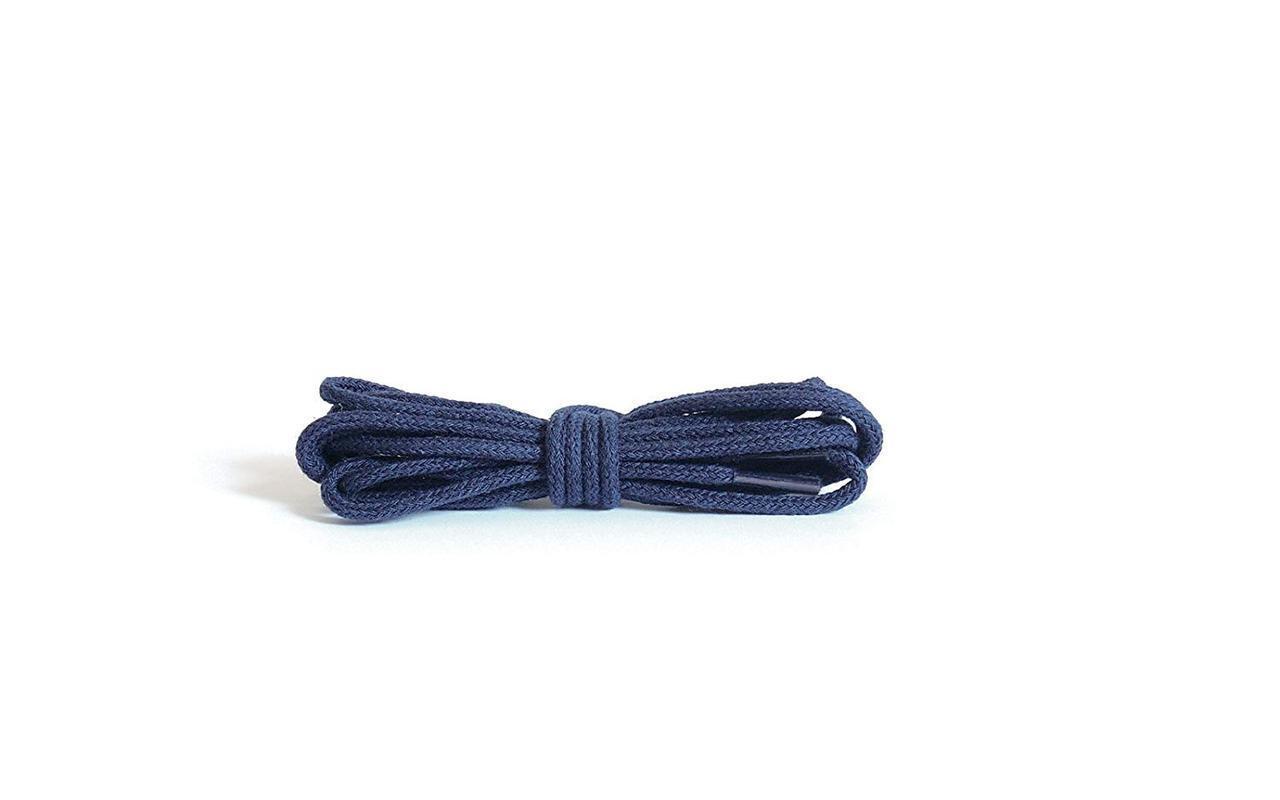 Шнурки Kaps тонкие круглые вощеные синие, 2мм\90 см
