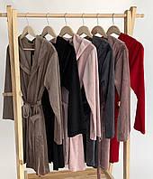 Жіночий плюшевий халат оптом і в роздріб S шоколад, фото 1