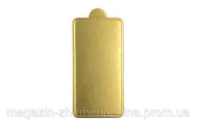 SALE!Подложка для пирожное Золотистая 100*70мм (1уп=10шт), фото 2