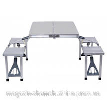 Складной алюминиевый стол для пикника со стульями, фото 3