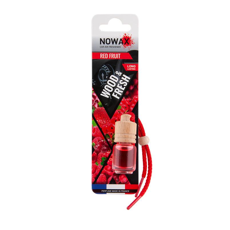 Ароматизатор автомобильный подвесной Nowax Wood and Fresh Red Fruits жидкость (NX07710)