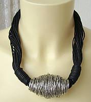Ожерелье женское колье массивное шикарное ювелирная бижутерия 4303, фото 1