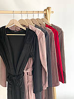Женский плюшевый халат оптом и в розницу S черный