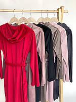 Женский плюшевый халат оптом и в розницу S красный