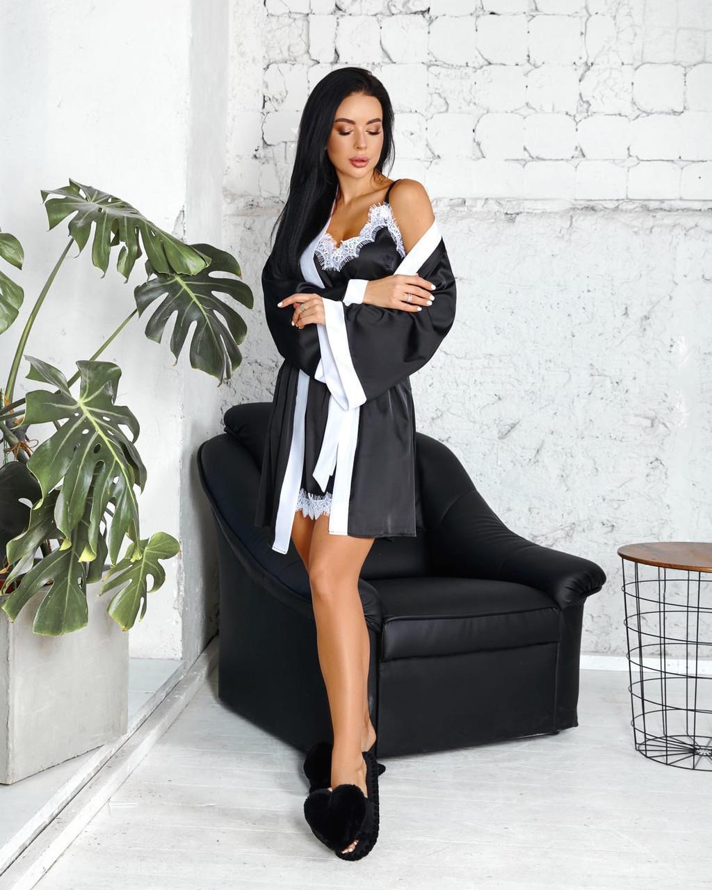 Женский комплект (рубашка+халат)