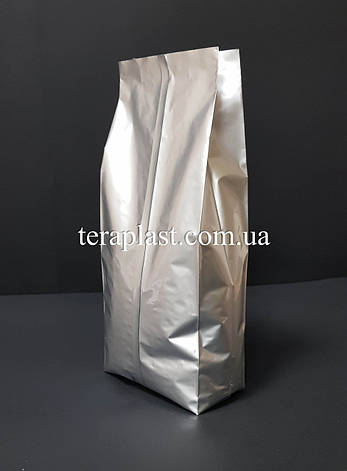Пакет с центральным швом серебро 1кг 135х360х35, фото 2