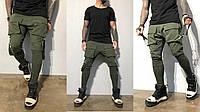 Мужские спортивные штаны с накладными карманам