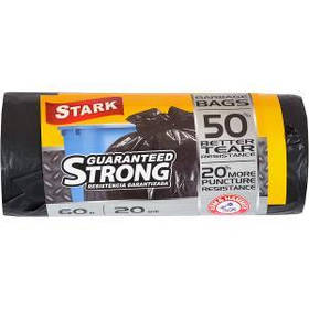 Пакет для мусора сверхпрочный 60х80 60л 20 шт.STARK