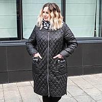 Весна женские Куртки больших размеров 52-62 черный