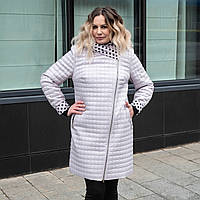 Модные женские куртки большого размера 50-60 молочный