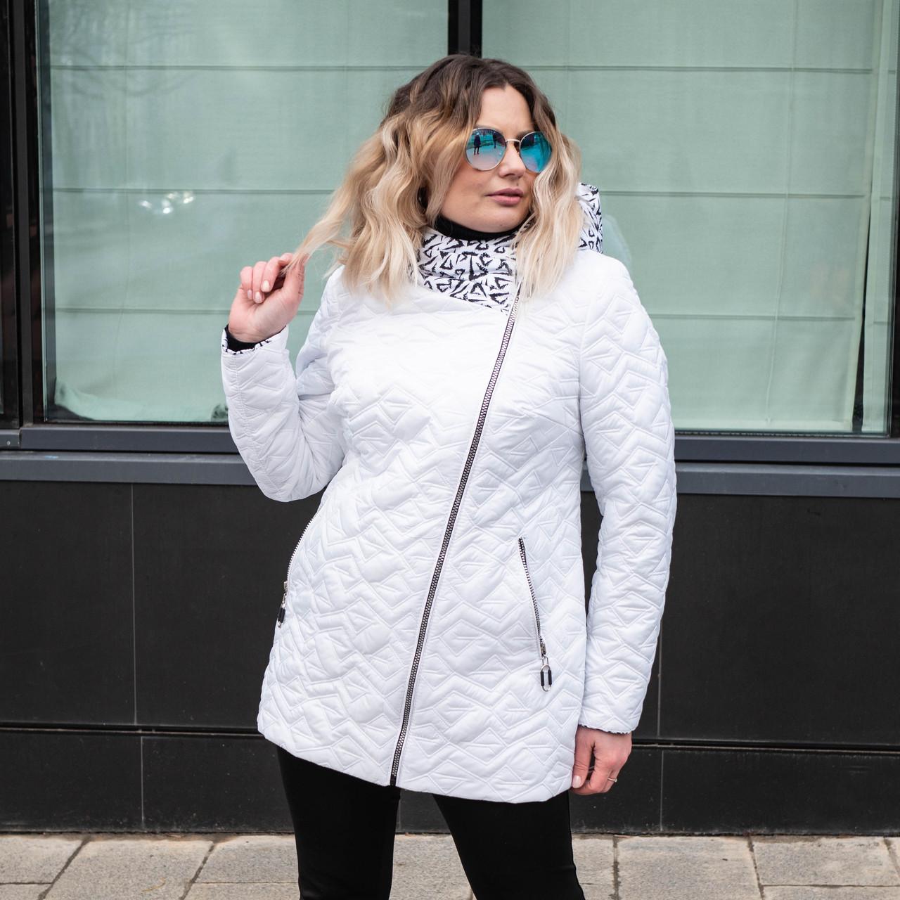 Куртки жіночі демісезонні великих розмірів 54 білий