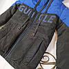 Куртка на мальчика подростка демисезонная «Стед» черный с электрик 122, фото 4
