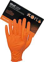 Перчатки нитриловые Ideall GRIP (без пудры) оранжевый 25 пар (50шт) размер L