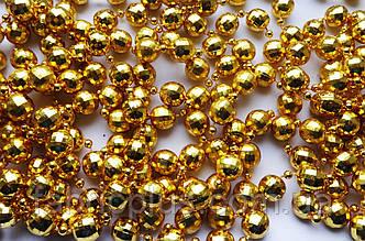 Новогодние  гирлянды- бусы  золото