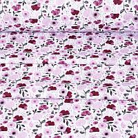 ✁ Відрізи тканини лілові і бордові квіти