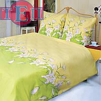 Двуспальное Постельное белье ТЕП 658 «Лилия зеленая» бязь