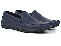 Мокасины мужские синие летняя мягкая кожаная обувь перфорированная Rosso Avangard Perf Blu Floto, фото 1