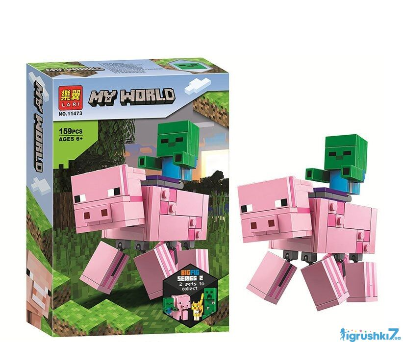 """Конструктор 11473 """"Зомбі на свинці"""" 159 деталей, в коробці"""