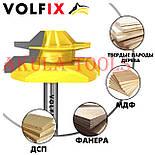 Фреза VOLFIX №4 D51 d8 для кутового зрощування деревини (мікрошип) (марошип) по дереву FZ-120-554 d8, фото 2
