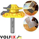 Фреза VOLFIX №4 D51 d8 для кутового зрощування деревини (мікрошип) (марошип) по дереву FZ-120-554 d8, фото 6