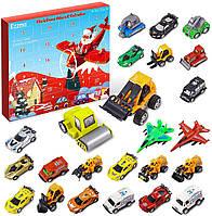 Адвент-календарь Ezzmo, календарь из 24 автомобилей с картой города