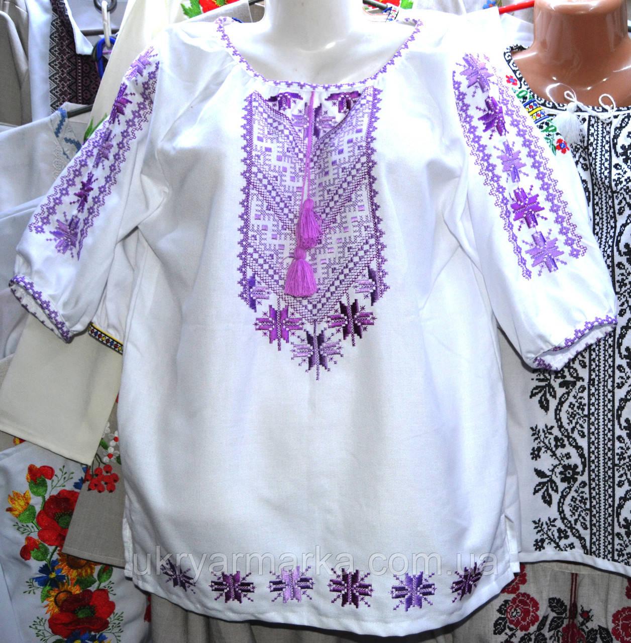"""Сорочка жіноча вишита """"Фіалка"""""""