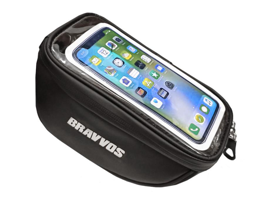 """Сумка велосипедная Bravvos на вынос руля, для телефона 6.0"""" - 6.5"""""""