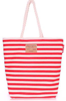 Коттоновая сумка POOLPARTY laspalmas-red красная