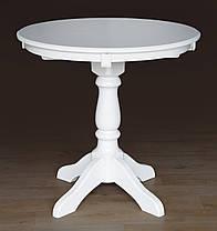 Стол обеденный Чумак круглый Слоновая кость (Микс-Мебель ТМ), фото 2