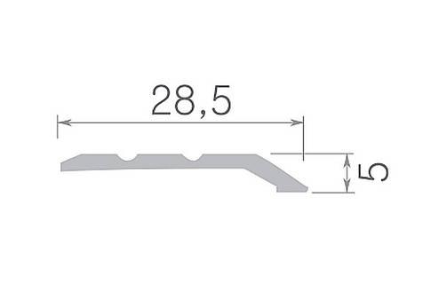 Поріг Оміс 0-226 / 05 горіх 180 см, фото 2