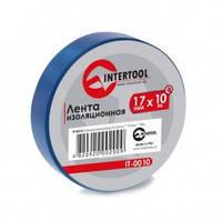 Лента изоляционная 0,15 мм x 17 мм x 10 м синяя (упак 10 шт) INTERTOOL IT-0010