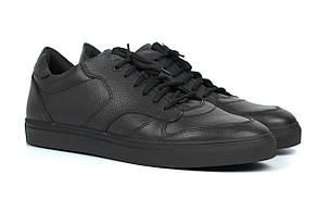 Кроссовки мужские демисезонные черные кожаные обувь больших размеров Rosso Avangard ReBaKa Leather TPR BS