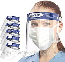 Захисний екран 1 шт FACE SHIELD Glasses маска (мінімальне замовлення 5 шт)