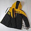 Куртка на мальчика подростка демисезонная «Стед» черный с желтым 152, фото 4