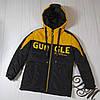 Куртка на мальчика подростка демисезонная «Стед» черный с желтым 152, фото 2