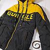 Куртка на мальчика подростка демисезонная «Стед» черный с желтым 152, фото 3