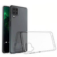 Прозрачный силиконовый чехол на Samsung A12 тонкий