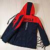 Куртка на мальчика подростка демисезонная «Стед» синий с красным 134, фото 4