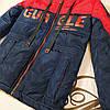 Куртка на мальчика подростка демисезонная «Стед» синий с красным 134, фото 3