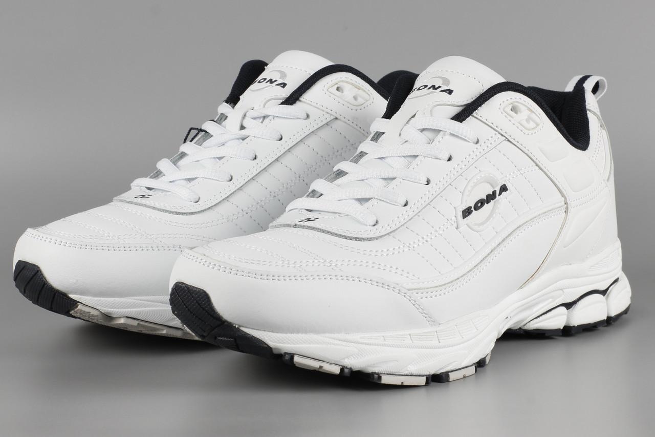 Кросівки чоловічі білі Bona 768A Бона Розміри 42 46