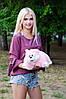 Подушка Складушка Котик Розовый 35 см, фото 2